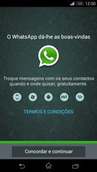Sony Xperia M2 - Aplicações - Como configurar o WhatsApp -  5