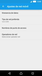 Sony Xperia M4 Aqua - Red - Seleccionar el tipo de red - Paso 8
