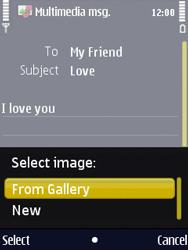 Nokia N86 - MMS - Sending pictures - Step 11