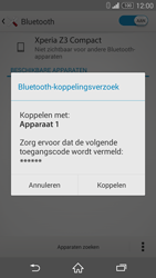 Sony Xperia Z3 Compact (D5803) - Bluetooth - Koppelen met ander apparaat - Stap 7