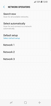 Samsung Galaxy S8 - Network - Manually select a network - Step 9