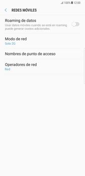 Samsung Galaxy Note 8 - Red - Seleccionar el tipo de red - Paso 8