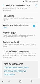 Samsung Galaxy A8 (2018) - Segurança - Como ativar o código PIN do cartão de telemóvel -  5