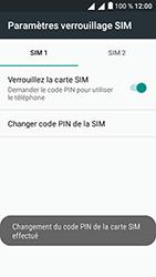 Alcatel U5 - Sécuriser votre mobile - Personnaliser le code PIN de votre carte SIM - Étape 14