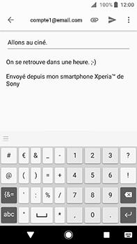 Sony Xperia XA2 Ultra - E-mail - envoyer un e-mail - Étape 8