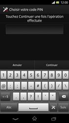Sony Xpéria Z - Sécuriser votre mobile - Activer le code de verrouillage - Étape 8
