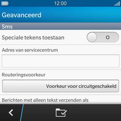 BlackBerry Q5 - SMS - handmatig instellen - Stap 7