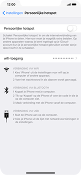 Apple iPhone XS Max - Internet - Stel mobiele hotspot in - Stap 6