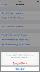 Apple iPhone iOS 8 - Funções básicas - Como restaurar as configurações originais do seu aparelho - Etapa 9