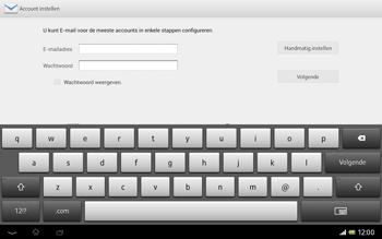 Sony SGP321 Xperia Tablet Z LTE - E-mail - Handmatig instellen - Stap 7