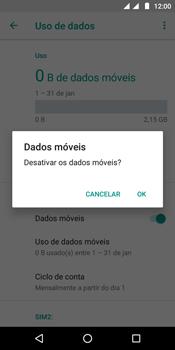 Motorola Moto E5 - Rede móvel - Como ativar e desativar uma rede de dados - Etapa 7