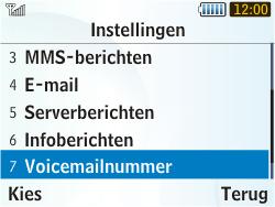 Samsung S3350 Chat 335 - Voicemail - handmatig instellen - Stap 8