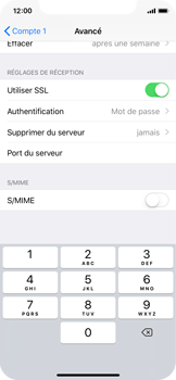 Apple iPhone X - E-mail - Configuration manuelle - Étape 23