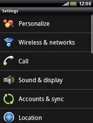 HTC A3333 Wildfire - Internet - Enable or disable - Step 4