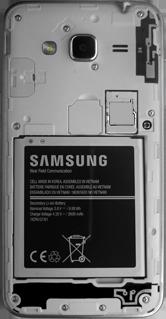 Samsung Galaxy J3 (2016) DualSim (J320) - Primeros pasos - Quitar y colocar la batería - Paso 4