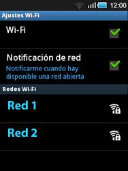 Samsung S5570 Galaxy Mini - WiFi - Conectarse a una red WiFi - Paso 7
