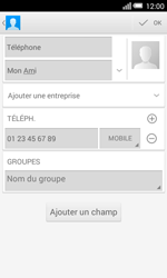 Alcatel OT-5050X Pop S3 - Contact, Appels, SMS/MMS - Ajouter un contact - Étape 10
