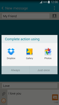 Samsung N910F Galaxy Note 4 - Mms - Sending a picture message - Step 15
