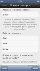 Apple iPhone 5 - Applications - Créer un compte - Étape 10