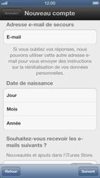 Apple iPhone 5 - Applications - Créer un compte - Étape 10