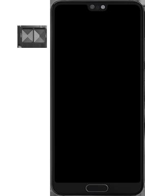 Huawei P20 - Premiers pas - Insérer la carte SIM - Étape 4