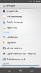 Sony Xperia M2 - Segurança - Como ativar o código de bloqueio do ecrã -  4