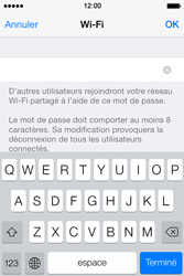 Apple iPhone 4S - Internet et connexion - Partager votre connexion en Wi-Fi - Étape 7