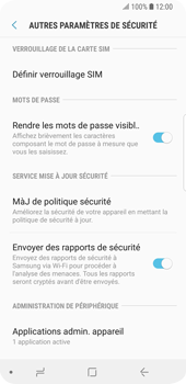 Samsung Galaxy S9 - Sécuriser votre mobile - Personnaliser le code PIN de votre carte SIM - Étape 6