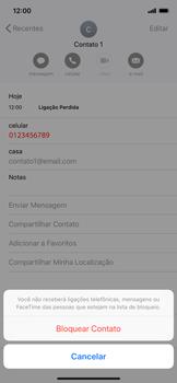 Apple iPhone XR - Chamadas - Como bloquear chamadas de um número específico - Etapa 6