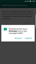 Samsung Galaxy S7 Edge - Aplicações - Como configurar o WhatsApp -  12