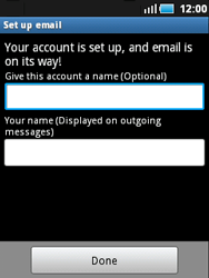 Samsung S5570 Galaxy Mini - E-mail - Manual configuration - Step 12