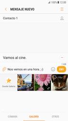 Samsung Galaxy S7 - Android Nougat - Mensajería - Escribir y enviar un mensaje multimedia - Paso 13