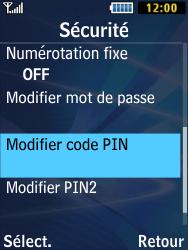 Samsung Solid 271 - Sécuriser votre mobile - Personnaliser le code PIN de votre carte SIM - Étape 5