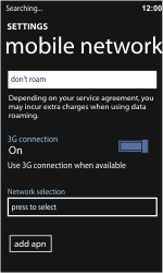 Nokia Lumia 710 - Network - Usage across the border - Step 7