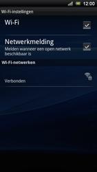 Sony Ericsson Xperia Ray - Wifi - handmatig instellen - Stap 8