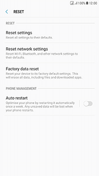 Samsung Galaxy J7 (2017) - Device - Reset to factory settings - Step 7