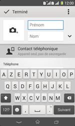 Sony Xpéria E1 Dual - Contact, Appels, SMS/MMS - Ajouter un contact - Étape 7