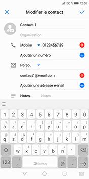 Huawei P Smart - Contact, Appels, SMS/MMS - Ajouter un contact - Étape 9