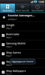 Samsung I5800 Galaxy Apollo - Internet - hoe te internetten - Stap 9