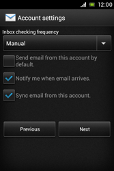 Sony C1505 Xperia E - E-mail - Manual configuration - Step 14
