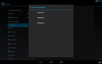 Acer Iconia Tab A3 - Network - Usage across the border - Step 10