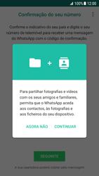Samsung Galaxy S7 - Android Nougat - Aplicações - Como configurar o WhatsApp -  6