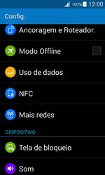 Samsung G357 Galaxy Ace 4 - Rede móvel - Como ativar e desativar uma rede de dados - Etapa 4