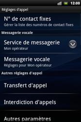 Sony Ericsson Xperia Mini Pro - Messagerie vocale - configuration manuelle - Étape 6