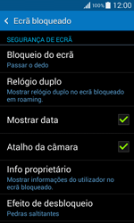 Samsung Galaxy Core II - Segurança - Como ativar o código de bloqueio do ecrã -  5