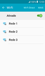 Samsung Galaxy J1 - Wi-Fi - Como configurar uma rede wi fi - Etapa 6