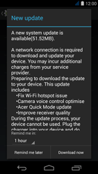 Acer Liquid Jade S - Network - Installing software updates - Step 8