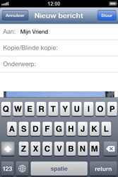 Apple iPhone 4 S met iOS 6 - E-mail - e-mail versturen - Stap 8