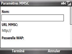 HTC S521 Snap - MMS - Configuration manuelle - Étape 15