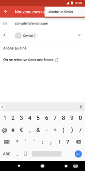Google Pixel 2 XL - E-mail - Envoi d